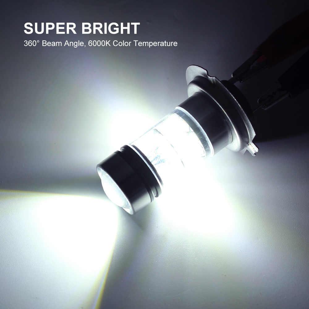 1 шт. H7 H11 H4 H1 1157 1156 7440 светодиодный лампы 12V 3030 SMD 20 светодиодный s Противотуманные фары автомобиля Обратный лампы ДРЛ огни