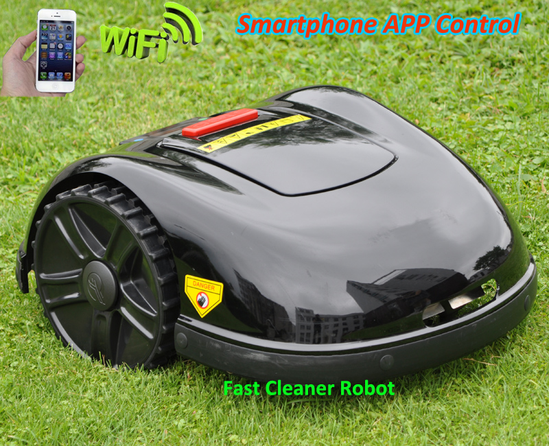NEWEST GYROSCOPE Smartphone WIFI APP Robot Grass Mower,Grass Cutter Robot E1600T with Water-proofed charger For Big Lawn цена
