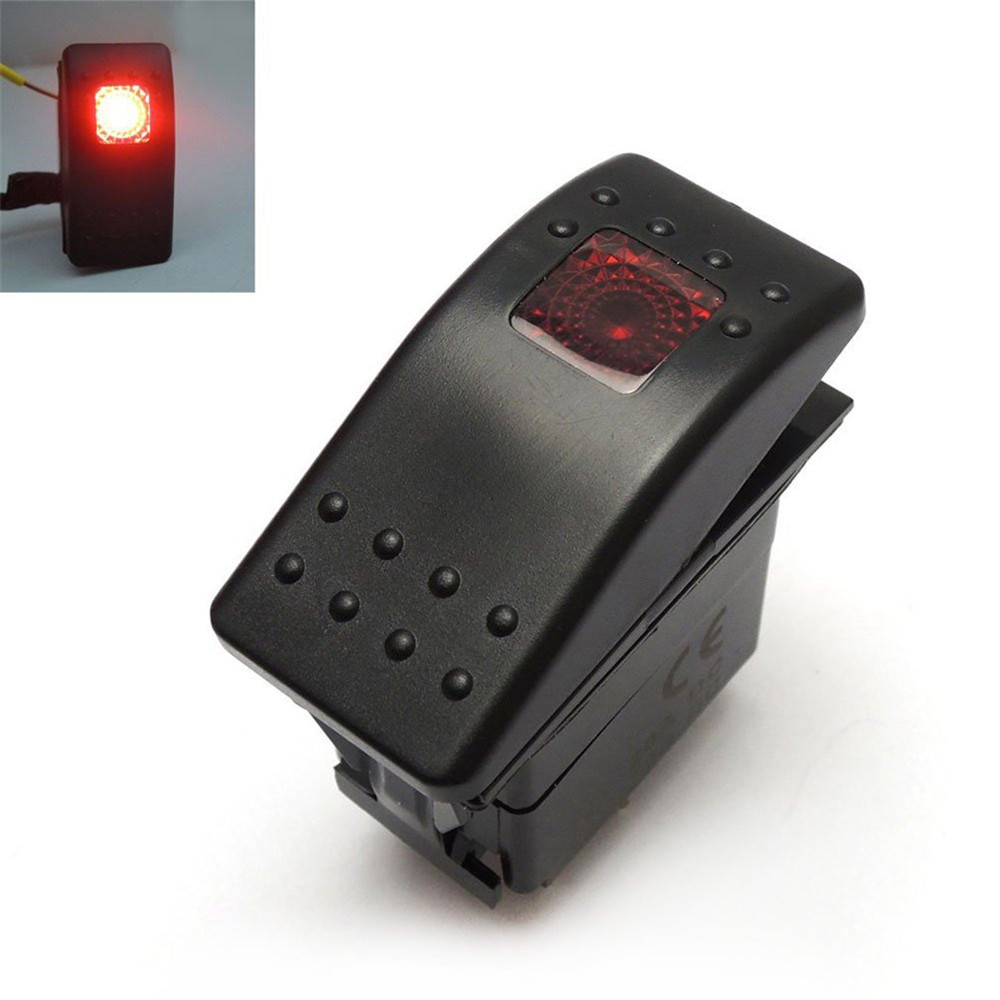Polaris RZR XP 1000 Rocker Switch 20A 12V Waterproof Off Road Red Lighted