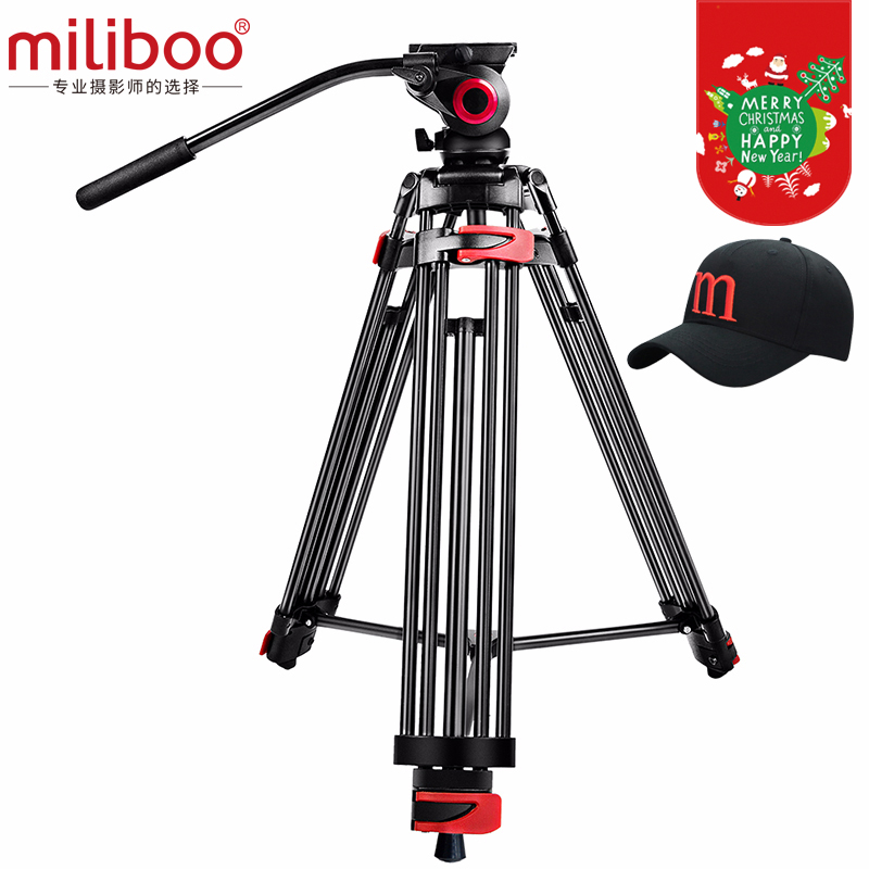 "miliboo MTT602A Professional Portable Aluminum Fluid Head Camera Tripod for Camcorder/DSLR Stand Video Tripod 76 "" Max Height"