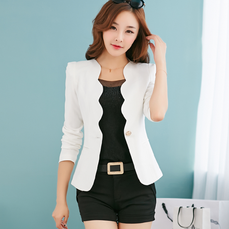2018 Female career fashion long sleeves women blazer New plus size formal slim jackets office ladies plus size work wear uniform