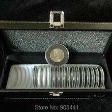 Coin Protection Holder Case Box (1*Storage Box+20*Coin circular holders Set)