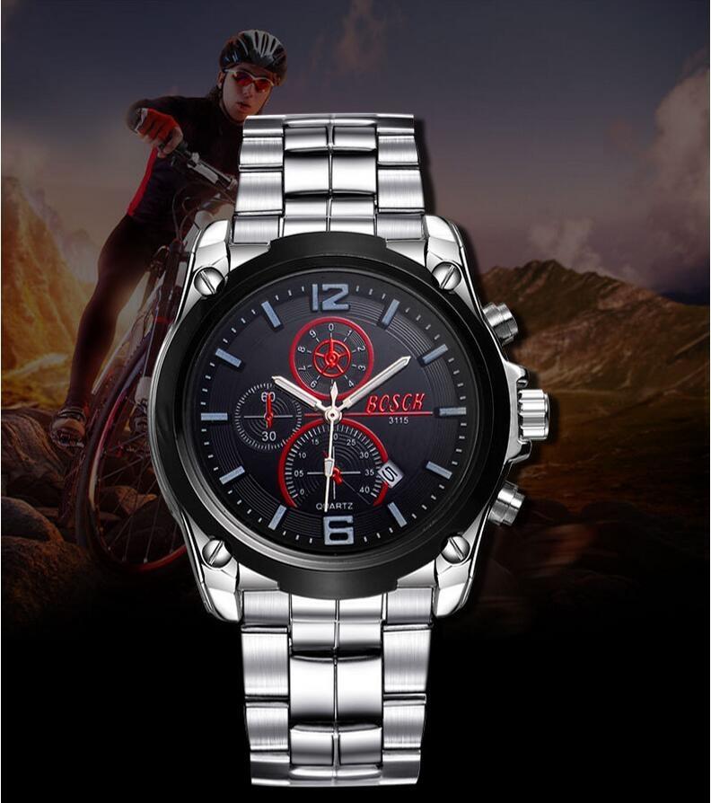 BOSCH Luxury leisure3115 men's watches, watch brand of high-end wrist neutral waterproof watch, quartz watch fashion business.
