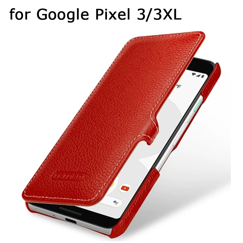 2019 Fashion Phone Case Cover for Google Pixel 3 3XL Luxury Genuine Leather Case for Fundas Google Pixel3 3 XL Free Phone Holder