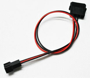 IDE Molex to Cooling Fan 3Pin Socket (2pin wire) Power Supply Cable 22AWG Wire 12V PC DIY 20cm