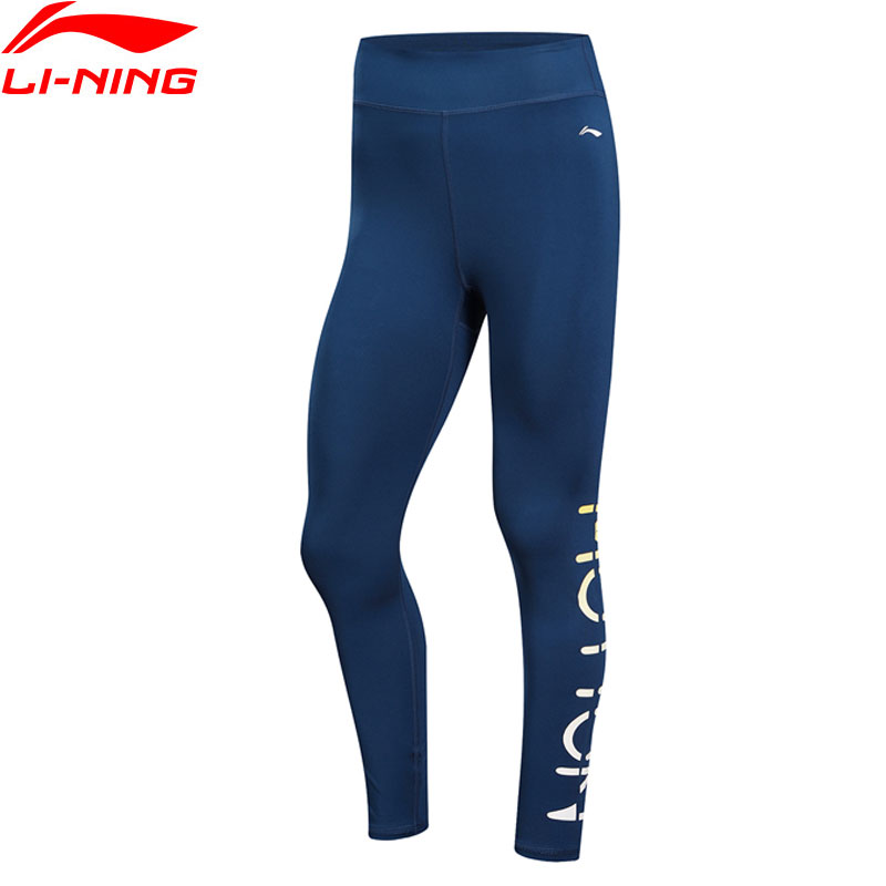(Clearance)Li-Ning Women Training Pants 80%Polyester 20%Spandex Breathable Elastic LiNing Sports Tights AULN176 WKY180(China)