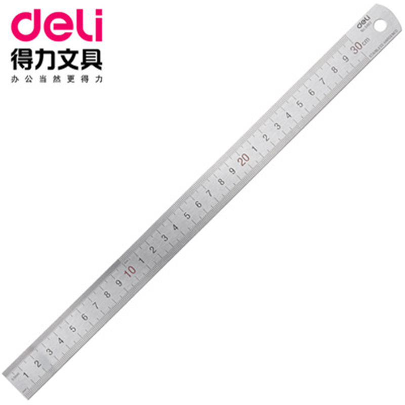 DL Effective 8463 Steel 30cm Steel Ruler Ruler Painting Drawing 30 Cm Stationery Office Supplies For Students