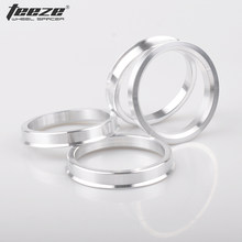 Teeze - (4Pcs/Set) Tire Accessories Center Hub Rings Aluminum Alloy Spigot Centric Hub Rings 70.1 to 66.6(China)