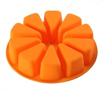 Xibao 10 agujeros sandía pastel de pizza pan de molde para hornear molde de budín molde de silicona jabón hecho a mano diy herramienta