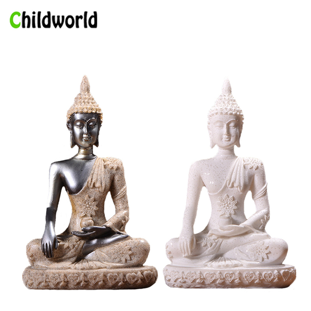 Nordic Style Sandstone Buddha Statue Resin Sculpture Crafts Creative Home Decor Accessories Home Decoration Gift 1