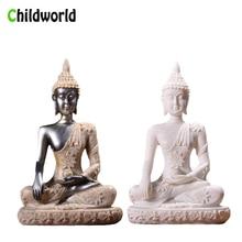 Nordic Style Sandstone Buddha Statue Resin Sculpture Crafts Creative Home Decor Accessories Decoration Gift