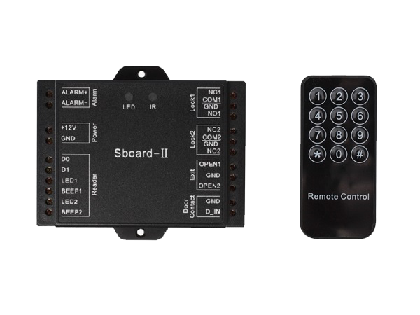 Sboard-2 Free Shipping Wiegand Output Mini Network Two Doors Access Controller