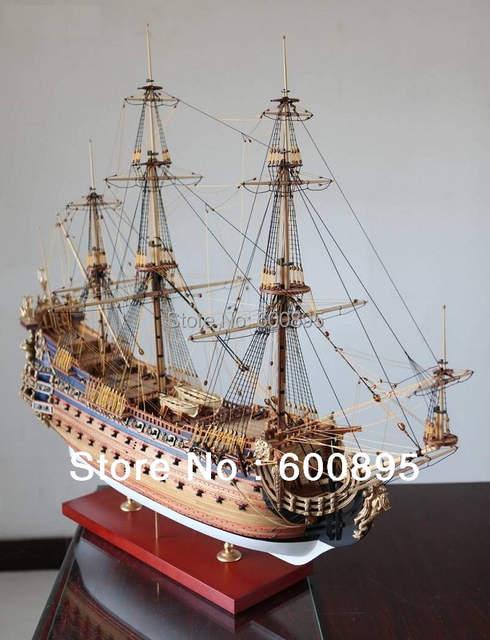 Zhl Wooden Model Ship Kits Le Soleil Royal 1669 Kl03