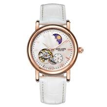 Новая Мода Люкс Top Brand женские Часы С Логотипом Из Нержавеющей Стали Relojes Часы Женщины Платье Повседневная механическая полые часы