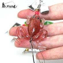 Mr Fish 1PCS 8cm 6 2g Soft Fishing Lures Single font b Fishhook b font Sequin