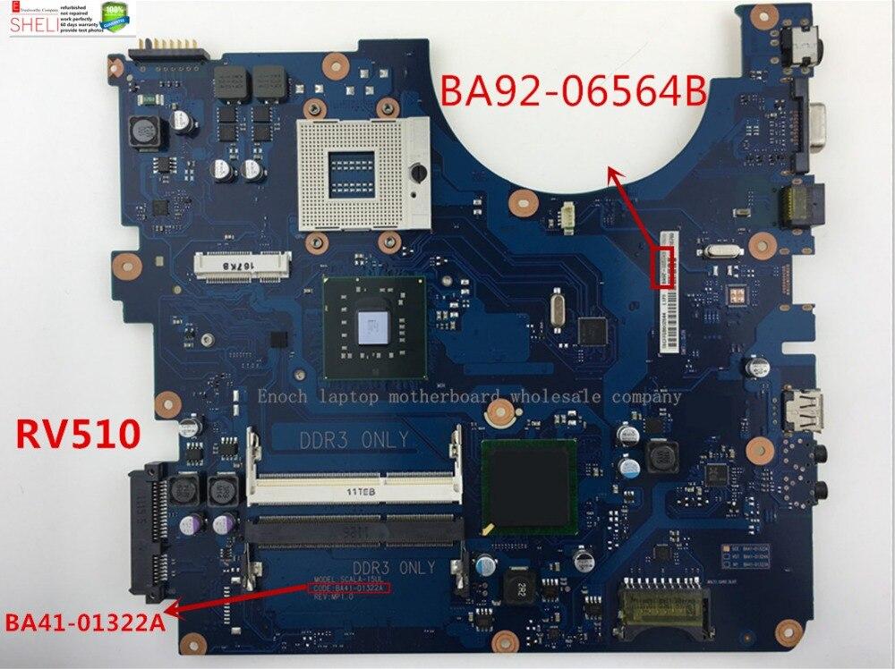BA92-06564A BA92-06564B for Samsung RV510 Laptop Motherboard BA41-01322A ,SHELI store, 60days waranty for samsung np305v5c laptop motherboard ba92 08724a ba92 08724b ba41 01681a 100