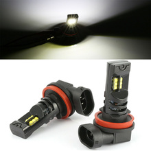 купить 1 Pair Universal H8 H11 LED Car Fog Light Bulbs 12V 60W LED Lamps For Cars 6000K White Light Auto Light Source дешево