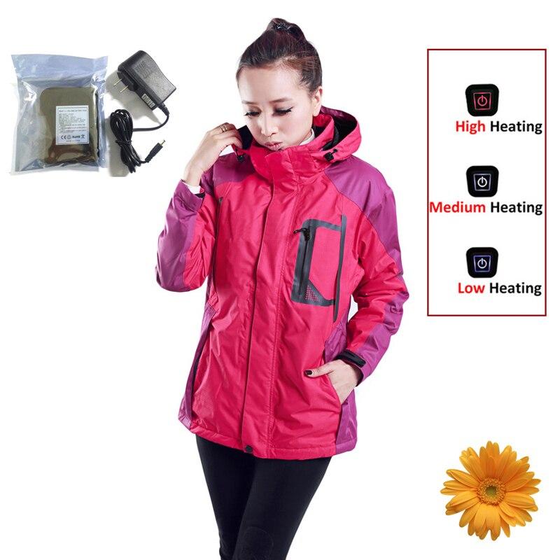 7.4V Brand Windstopper Softshell Jacket Women Winter Skiing Snowboarding Hiking Jacket Female Waterproof Outdoor Sportswear Coat стоимость