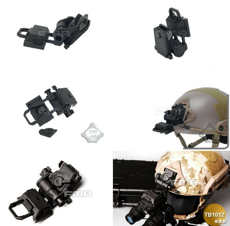 FMA Helmet Mount Airsoft Paintball L4G24 Night Vision Goggles NVG 100/% Plastic