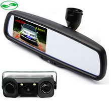 Free Transport Twin Core Visible Automobile Video Parking Sensor With Rear View Digicam + four.three TFT LCD Auto Mirror Monitor With Bracket