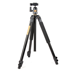 New QZSD Q308 Flexible Extendable Professional Aluminum Tripod For Camera Ball Head Set  With Tripod Bag Free Ship To DHL