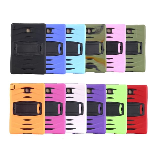 For Samsung Galaxy Tab A 8.0 T350 T355 Assembly Heavy Duty Cover Shock Proof Tablet Silicone Hard Stand Case P350 8 Colors