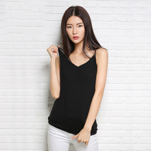Summer Women Tank Tops 2017 New Sleeveless V-Neck Camis Vest Casual Knitted Red Black White Bodycon Bottoming Shirt