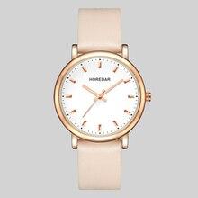 HOREDAR Clásico Simple Reloj de Las Mujeres de Primeras Marcas de Lujo Relojes Mujer Reloj de Cuarzo Resistente Al Agua Reloj Relogio Feminino 2017 Femenino