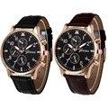 Женева Новый Relogio Masculino Часы Мужчины Кожаный Ремешок Наручные Военные Спортивные Часы Мужчины Моды Случайные Кварцевые Часы Relojes Hombre