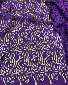 2018 New Design Nigerian Wedding African satin laser cut embroidery Lace Fabric For Wedding Dress