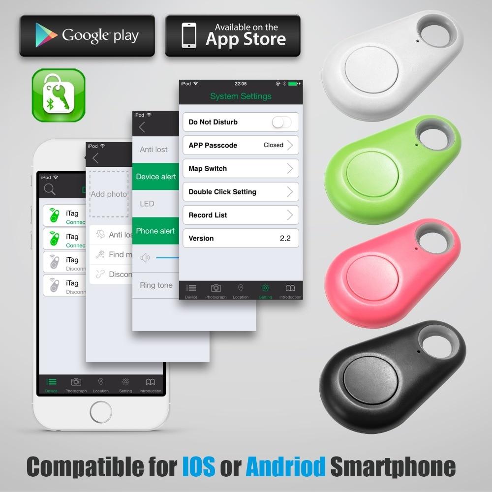 4pcs Anti-lost Alarm Lost Smart Key Finder Locator Wireless Bluetooth Tracker Child Bag Wallet Key Finder GPS Locator Anti Lost