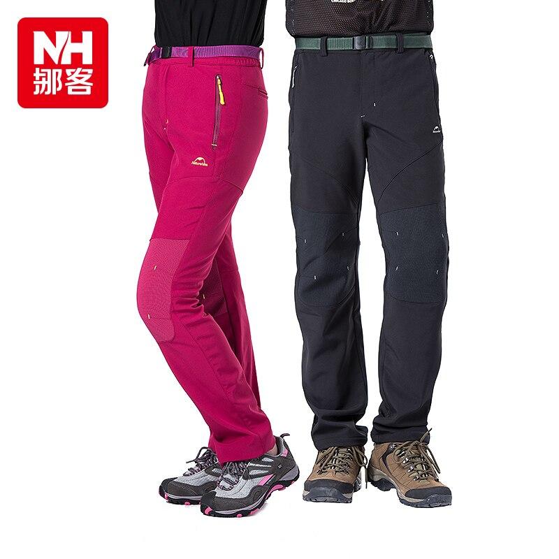 Naturehike Winter hiking pants Outdoor men women waterproof trekking sport thick fleece warm trousers for hiking climbing