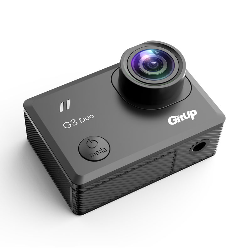 "Gitup G3 Duo Git3 WiFi 2K 2160P Action Camera 2"" Touch Screen GYRO 170 degree Wrist Remote Control GPS Slave Camera External MIC-in Sports & Action Video Camera from Consumer Electronics    2"