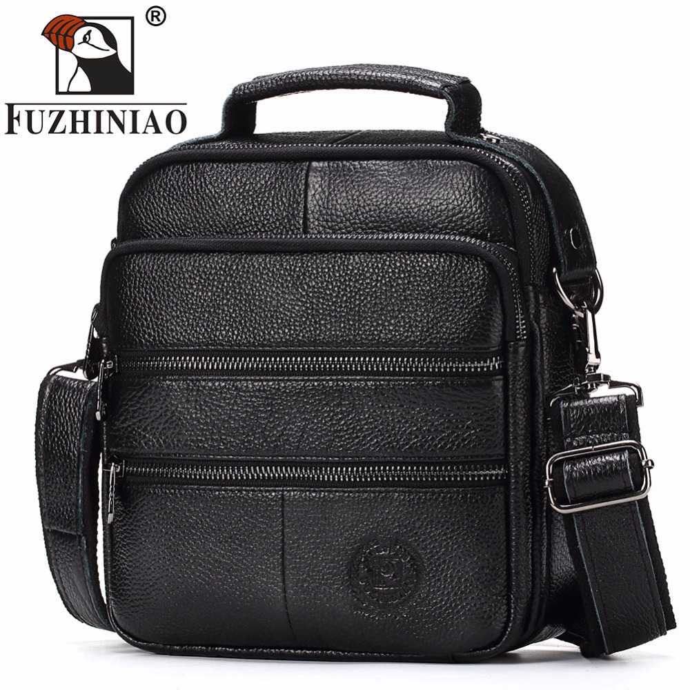 FUZHINIAO Fashion Men s Messenger Bags Genuine Leather Shoulder Bag Top Quality Men Business Crossbody Bag