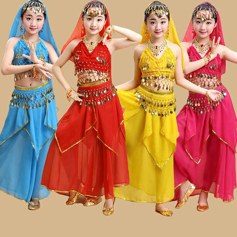 Children Dancewear Kids Professional Belly Dance Costume For Girl Egypt Costumes BELLY DANCE Costume for Girls Bollywood Dance