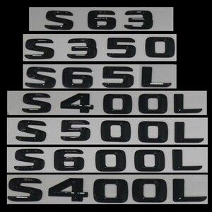 Image 2 - 3D Black W221 W222 Emblem S63 S350 S500 4MATIC Letter S CLA Auto Car Stickers Badge Logo Emblema For Mersedes Mercedes Benz AMG