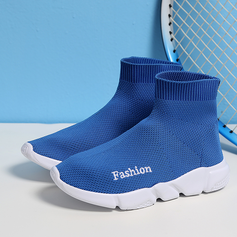 ULKNN Kids Sneakers For Children Shoes Boys Sneakers Girls Casual Shoes Sock Sneakers Shoe Breathable Mesh Slip-On School girl and boy loafers shoes sneakers slip on girls winter kid casual boys shoe black breathable children flats sporting shoes