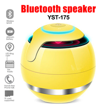 Mini Stereo Wireless Bluetooth Speaker TF Card Portable LED Music Loudspeakers Speakers For iPhone Xiaomi PC with Mic portable mini led bluetooth speakers wireless small music audio tf usb fm light stereo sound speaker for phone xiaomi with mic