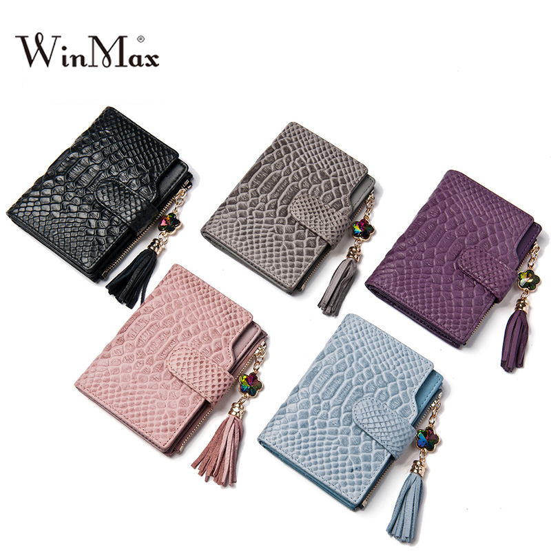 ФОТО fashion Serpentine Genuine Leather Women Wallet cow leather short wallet Ladies Zipper Purse Coin Pocket photo credit cardHolder