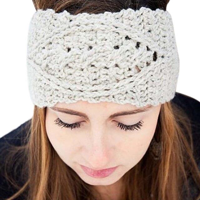 Tienda Online Ancho sólido tejer lana diadema invierno del oído ...