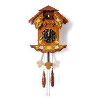 Роскошные часы для гостиной из цельного дерева с Умной стенкой cuckoo Детские креативные часы в европейском стиле