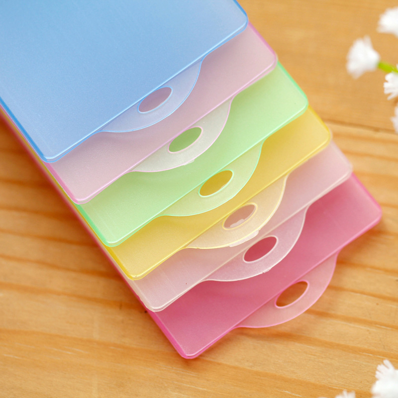 50Pcs/lot PVC Transparent IC card Bus Card Student Meal Card Bank Card Cover Pure Color Frosted Waterproof card cover JB04008-3