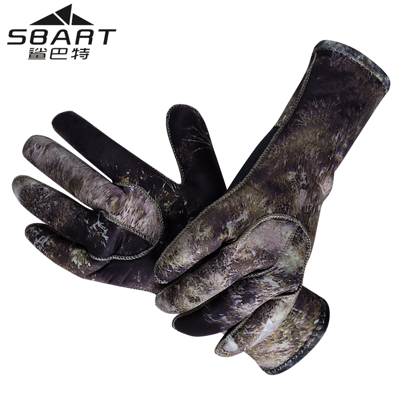 SBART 3MM Neoprene Snorkeling Gloves Men's Anti Scratch Jellyfish Winter Warm Gloves For Skiing Diving Spearfishing Equipment