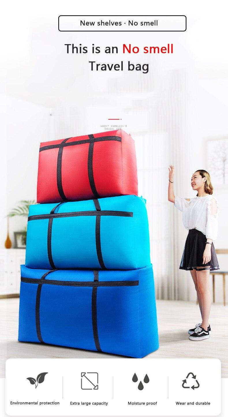 180l grande saco de armazenamento saco de bagagem lona