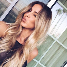 2016 Newest Ombre synthetic lace front wig ombre wig heat resistant for black Women Silk Straight Long Mixed Color Fast Shipping