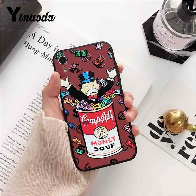 Yinuoda мультфильм доллар Монополия шаблон ТПУ мягкий чехол для телефона для iPhone 8 7 6 6 S 6 Plus X XS MAX 5 5S SE XR 10 Чехол