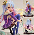 Anime NO GAME NO LIFE Shiro 1/7 Scale Complete Figure Collectible Model Toy 15CM D58