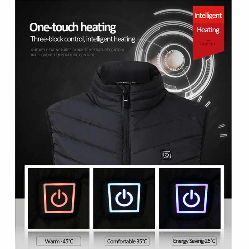 Электрический USB жилет с подогревом мужской жилет женский пальто перо флисовая куртка с термозащитой куртка с подогревом Nerf Жилет Отопление жилет шофан