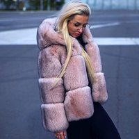 2019 New Winter Fashion Women Real Fox Fur Coat With Hood Ladies Genuine Fox Outerwear Spring Natural Fur Coats Luxury Jacket