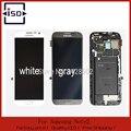 100% Первоначально Для Samsung Galaxy Note 2 N7100 ЖК Планшета Ассамблеи с рамкой Серый и Белый, Бесплатная доставка